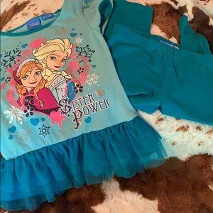 Disney Frozen Sister Power outfit 3T.